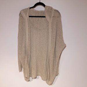 Talula Crochet Hooded Sweater Size S
